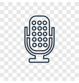voice recorder concept linear icon isolated on vector image