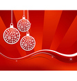Waving elegant red Christmas background vector image