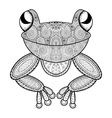 zentangle frog for adult anti stress vector image vector image