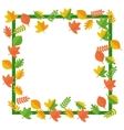 frame of autumn leaves vector image