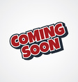 coming soon theme vector image