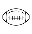 american football ball icon outline style