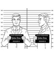 arrested man photo in police coloring book vector image vector image