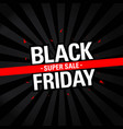 black friday sale discount banner black friday vector image vector image