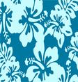 Blue decorative floral pattern vector image vector image