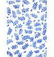 blue fern leaf watercolor background vector image vector image