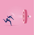 businessman throw light bulb into target concept vector image