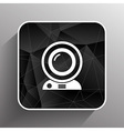 camera video icon web insight cam chat network vector image vector image
