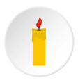candle icon circle vector image vector image