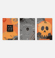 card designs for halloween night vector image