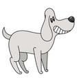 cartoon cute smiles cartoon dog vector image