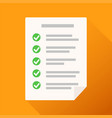 checklist icon flat for web stock design vector image vector image