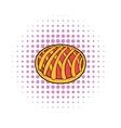 Cherry pie icon comics style vector image vector image