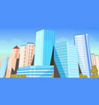 city skyscrapers view modern cityscape background vector image vector image