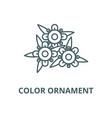 color ornament line icon color ornament vector image vector image