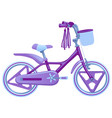 cute kids bicycle isolated on vector image