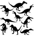 dinosaur silhouettes vector image