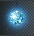 disco or mirror ball with bright rays music vector image