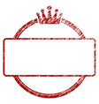 distressed textured crown round and rectangle vector image
