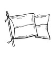 drawn tensioned flag vector image