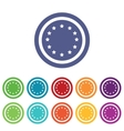 European Union signs colored set vector image