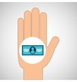 hand concept save bill money dollar vector image