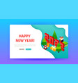 happy new year 2022 landing page vector image