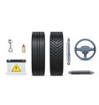 icons car parts for garage auto car services vector image