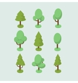Isometric tree set vector image vector image