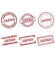 Japan stamps vector image vector image