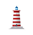 lighthouse or sea tower light nautical navigation vector image vector image