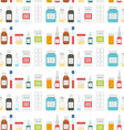Medical pills and Drugs in Seamless Pattern vector image vector image