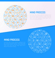 mind process concept in circle vector image vector image