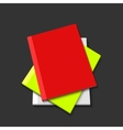 modern books on gray background vector image vector image