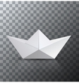 modern origami boat with shadow on vector image