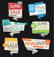 modern sale banners and labels collection 4 vector image