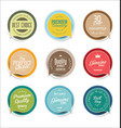 modern sale sticker and tag colorful collection 3 vector image vector image