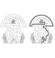 Mushroom maze vector image