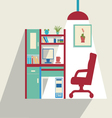 office flat set of office furniture vector image