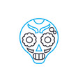painted mask linear icon concept painted mask vector image vector image
