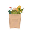 paper package with healthy food vector image