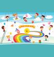 rainbow children vector image