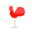 red peacock lollipop icon vector image