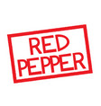 red pepper stamp on white vector image