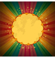 retro rainbow starburst and border vector image vector image