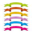 ribbons collection colorful ribbons set vector image