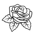 rose sketch 002 vector image vector image