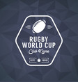 rugby world cup logo sport vector image vector image