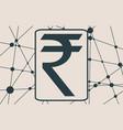 rupee symbol vector image vector image