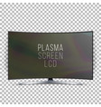 screen lcd plasma curved tv modern blank vector image vector image